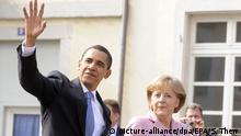 Deutschland Barack Obama und Angela Merkel in Baden-Baden