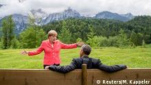Deutschland G7 Gipfel Angela Merkel und Barack Obama Schloss Elmau