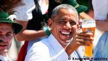 Deutschland G7 Gipfel Barack Obama Frühschoppen in Krün