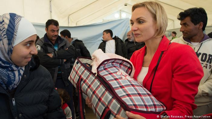Irina Kolesnikova in the refugee camp in Tabanovce Copyright: Stefan Rosseau, Press Association