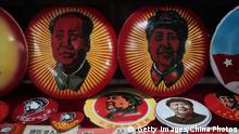 China Mao Devotionalien Buttons in Nanjing