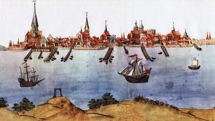 Штральзунд на рисунке начала XVII века