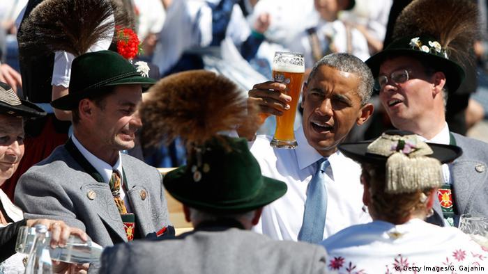 Барак Обама в немецкой пивной
