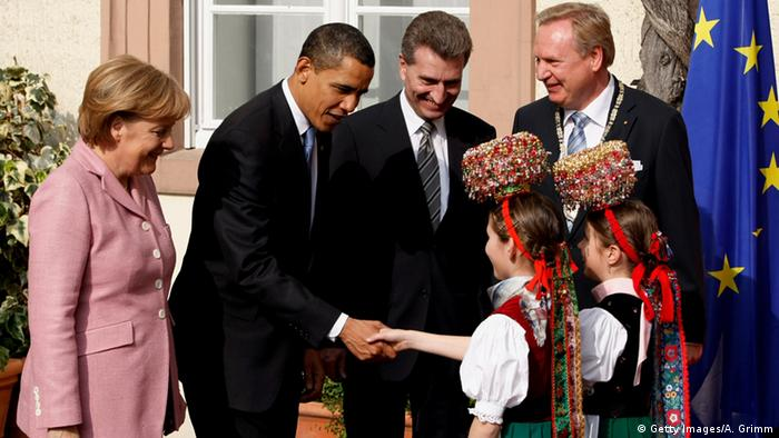 Ангела Меркель и Барак Обама в Баден-Бадене