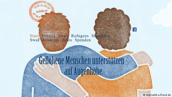 Screenshot Website start-with-a-friend.de