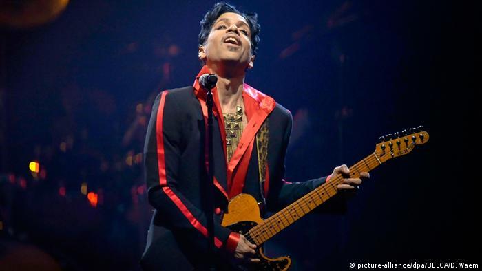 Belgien Sänger Prince Konzert in Antwerpen