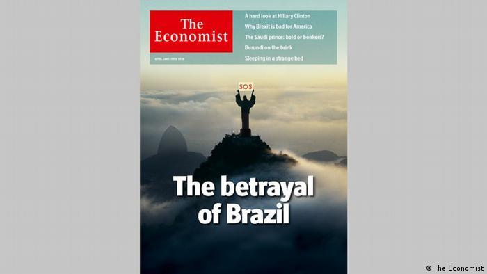 The Economist traz o Cristo Redentor pedindo socorro na capa, com o título: A traição do Brasil