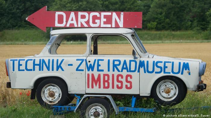 Trabant indica direção de museu