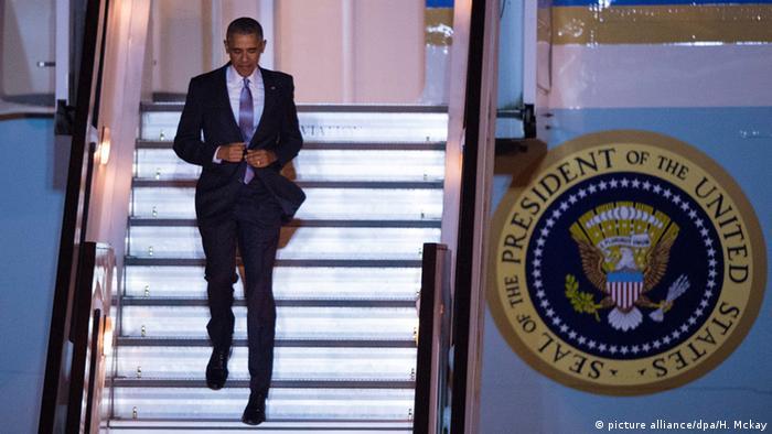 Barack Obama podczas wizyty w Londynie