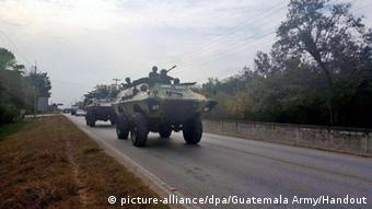Guatemala armored carriers near the Belize border