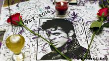 USA Tod Sänger Prince - Gedenken in New York