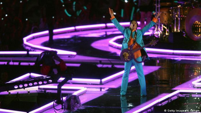 USA Sänger Prince - Auftritt Super Bowl in Miami