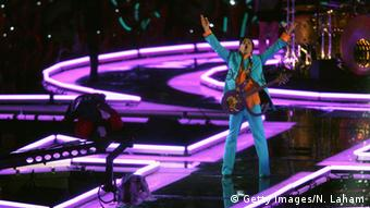Prince beim Super Bowl in Miami 2007 (Foto: Getty Images/N. Laham)