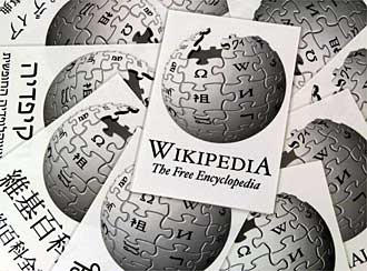 Logo showing that free Internet encyclopedia Wikipedia is available in a multitude of languages