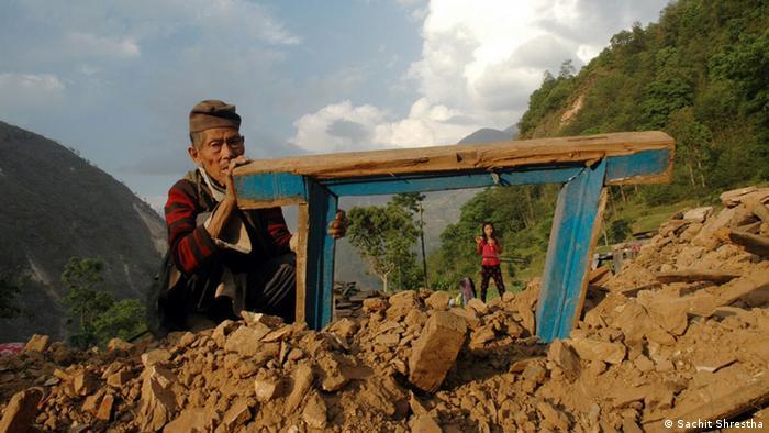 Nepal nach dem Erdbeben Notunterkünfte