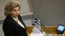 Russland neue Menschenrechtsbeauftragte Tatjana Moskalkowa