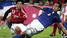 Fußball Italien-Deutschland