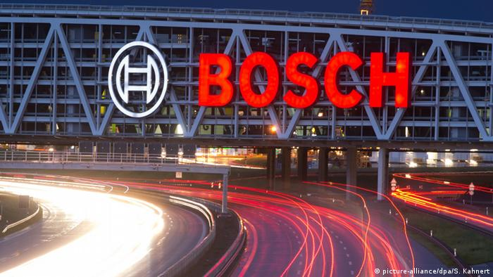 Bosch logo at a bridge