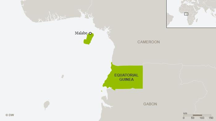Karte Äquatorial-Guinea Englisch