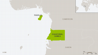 Map showing the location of Equatorial guinea in West Africa