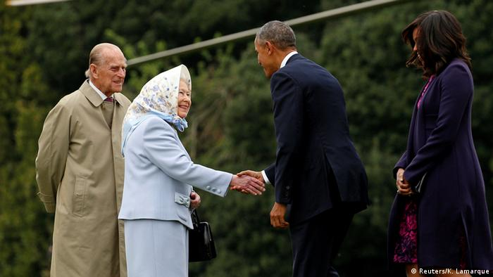 Barack Obama und Queen Elizabeth in London (Foto: Reuters)