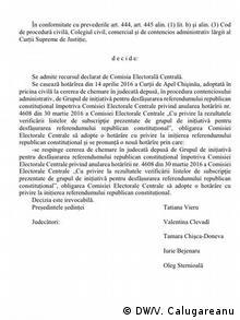 Republik Moldau Urteil des Obersten Gerichtshofes zum Referendum