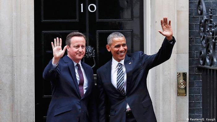 Barack Obama and David Cameron in front of Number 10 Downing Street in April 2016