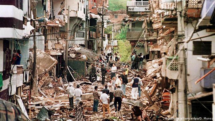 Kolumbien Granada Anschlag FARC auf Stadtviertel