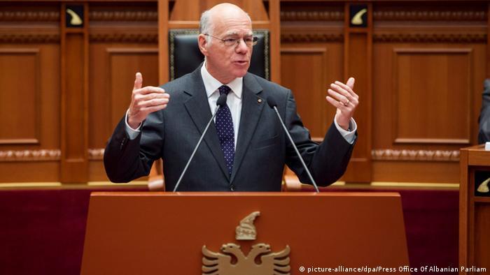 Albanien Tirana Norbert Lammert Parlament Rede