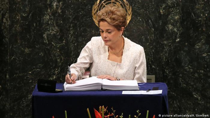 USA Unterzeichnung Paris-Abkommen Dilma Rousseff