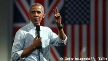 England Besuch US Präsident Obama beim Town Hall Meeting