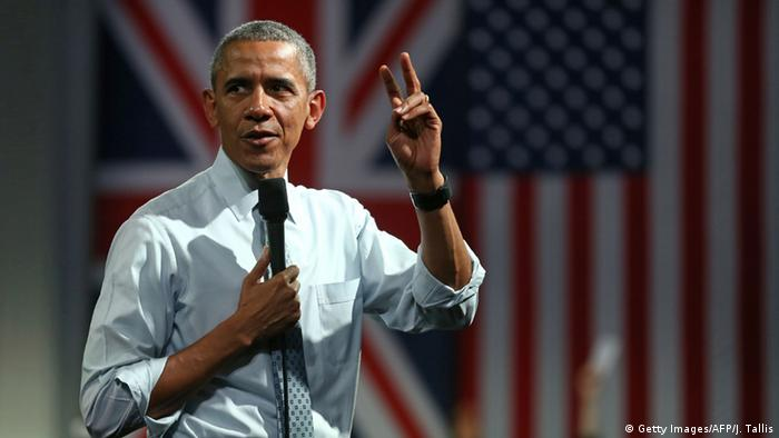 England Besuch US Präsident Obama beim Town Hall Meeting (Getty Images/AFP/J. Tallis)