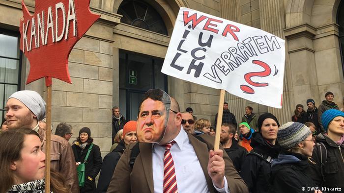 Deutschland Demonstration gegen TTIP und CETA in Hannover