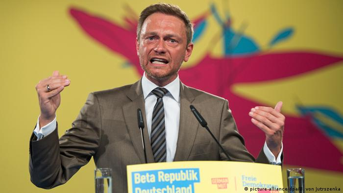 FDP Bundesparteitag in Berlin Christian Lindner (picture-alliance/dpa/B. von Jutrszenka)
