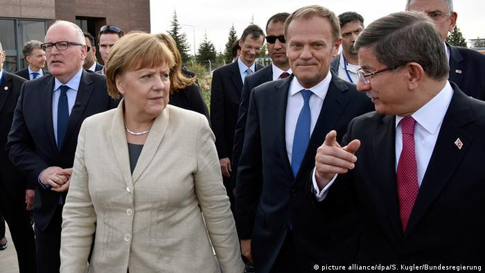 Türkei Timmermans, Merkel, Tusk und Davutoglu in Gaziantep