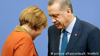 Chancellor Angela Merkel with President Erdogan