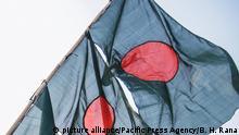 Bangladesch Fahne in Dhaka
