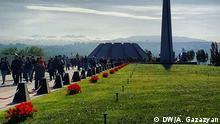 24.04.2016 Memorial für die Opfer des Völkermordes in Eriwan, Armenien, am 24.04.2016 Copyright: DW/A. Gazazyan via Sergej Wilhelm, DW Russisch