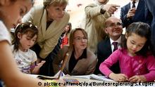 Merkel visits the Nizip refugee camp in Tureky