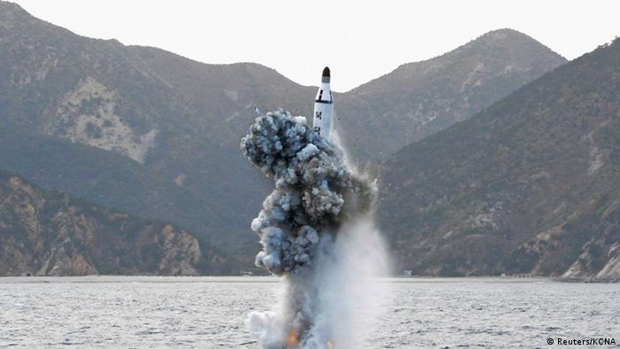Запуск північнокорейської ракети з підводного човна 2016 року