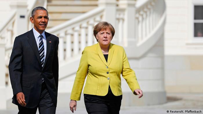 Presidente Barack Obama e chanceler federal Angela Merkel