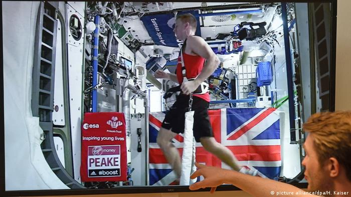 Astronaut Tim Peake läuft Marathon im All (picture alliance/dpa/H. Kaiser)