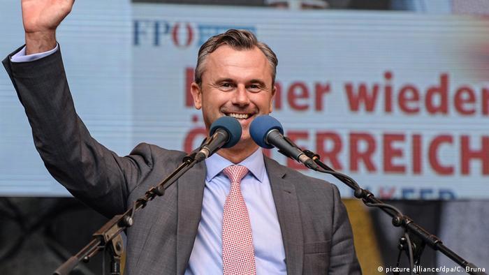 Норберт Хофер, кандидат в президенты Австрии от Австрийской партию свободы