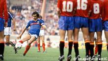 Fussball Frankreich gegen Spanien 1984