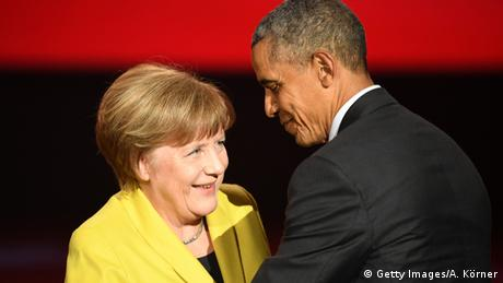 Barack Obama Angela Merkel Hannover Messe