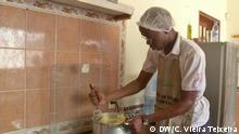 Video Still Men in the kitchen in Mozambique