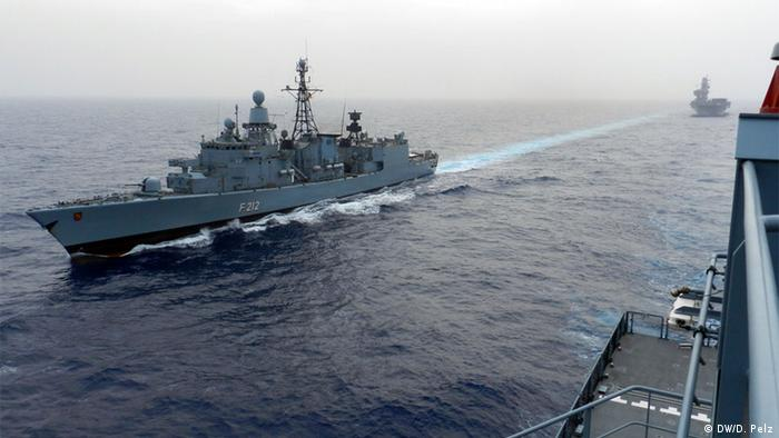 The German frigate Frankfurt am Main is involved in the EU naval mission in the Mediterranean