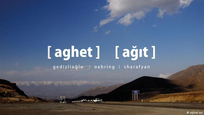 Poster for the Aghet music project, Copyright: aghet.eu