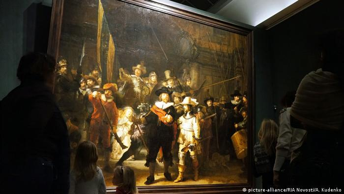 Rembrandt's 'The Night Watch' in Rijksmuseum, Amsterdam.