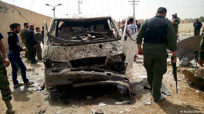 Syrien Anschlag mit Autobombe in Vorort von Damaskus